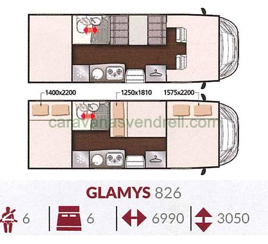 MCLOUIS GLAMYS 826