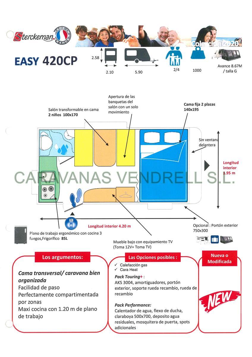 STERCKEMAN EASY 420-CP - GAMA 2020
