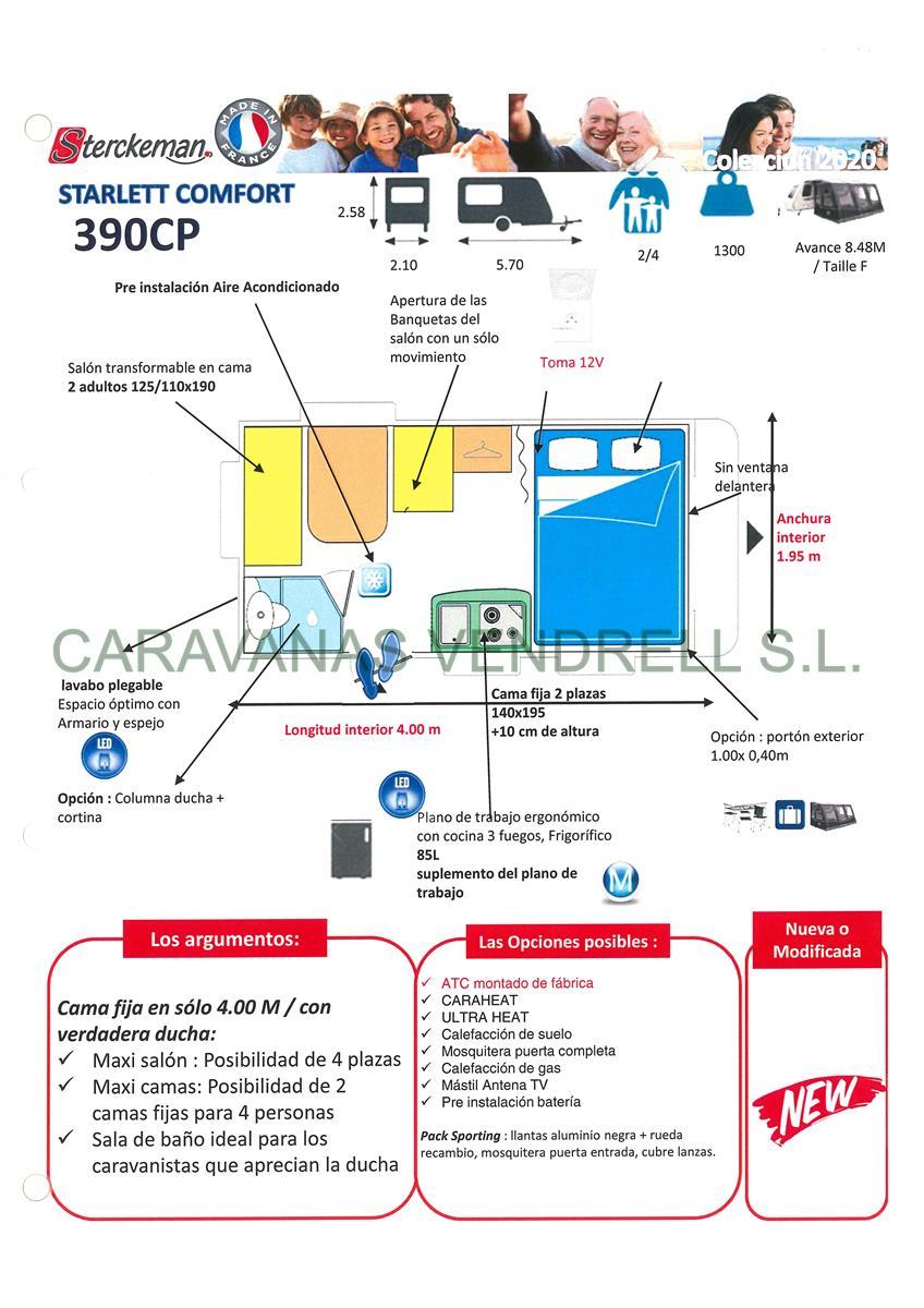STERCKEMAN STARLETT COMFORT 390-CP - GAMA 2020
