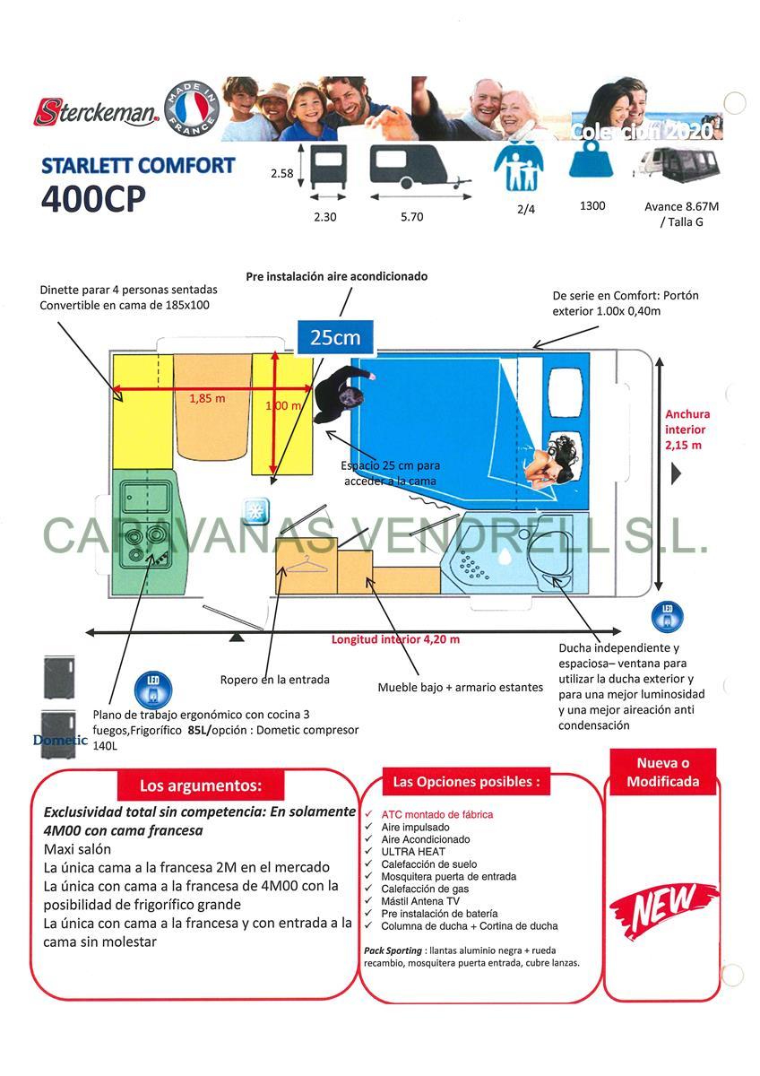 STERCKEMAN STARLETT COMFORT 400-CP - GAMA 2020