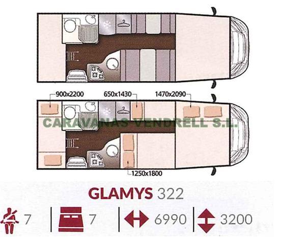 MCLOUIS GLAMYS 322